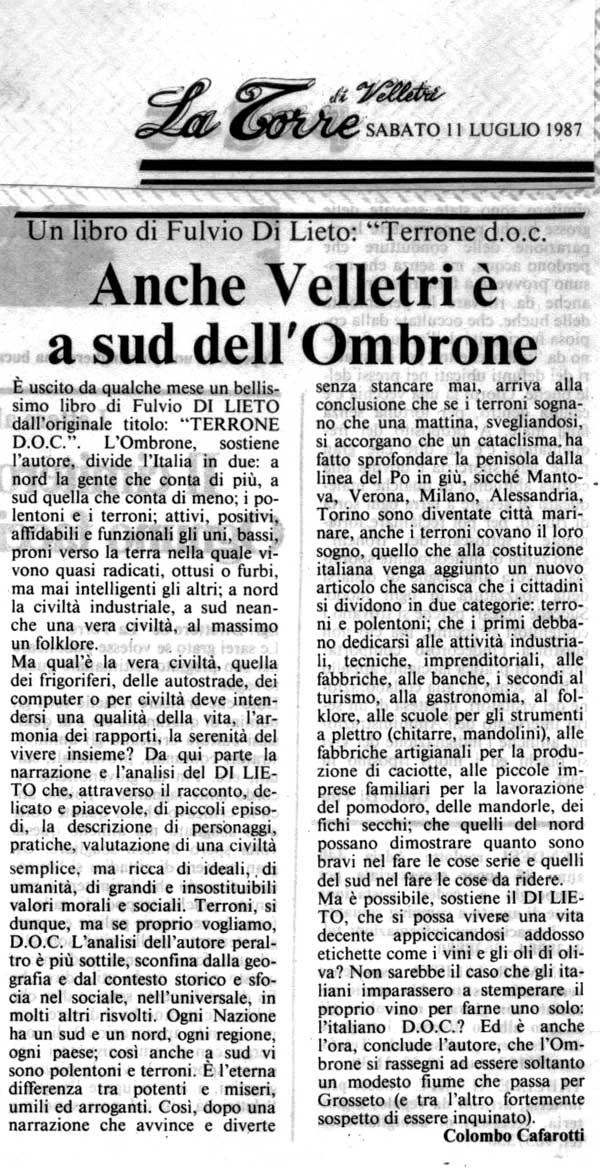 La Torre, 11 luglio 1987